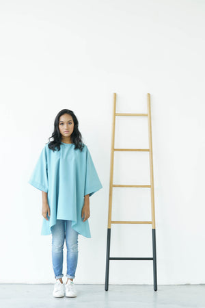 [PRE ORDER] Dusty Blue High Low Box Cotton Top