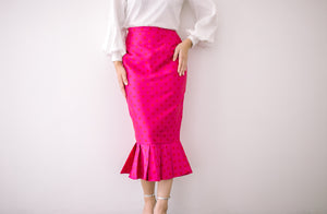 Polka Dot Skirt in Pink