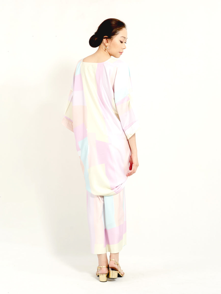 Kirana Top Pastel Yellow Geometry