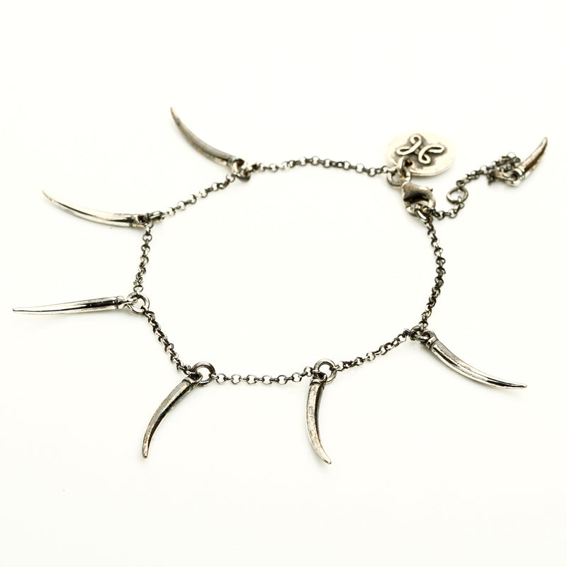 Six horns - oxidised silver