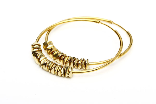 Rings large gold w. chips - Hildur Hafstein