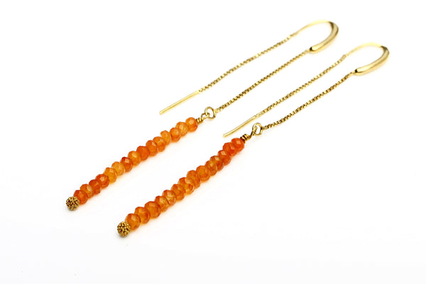 Earrings Long - Carnelian - Hildur Hafstein