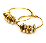 Rings small gold w. chips - Hildur Hafstein