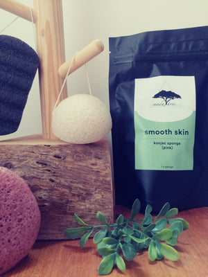 Smooth Skin (Body Konjac Sponge) Bamboo Charcoal