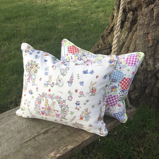 Cushions - Vintage Hollyhock Prints