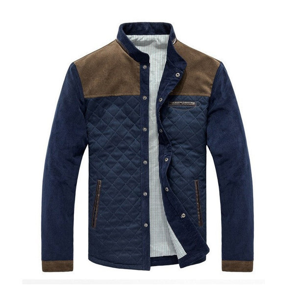Exclusive Quilted Patched Fleece Jacket