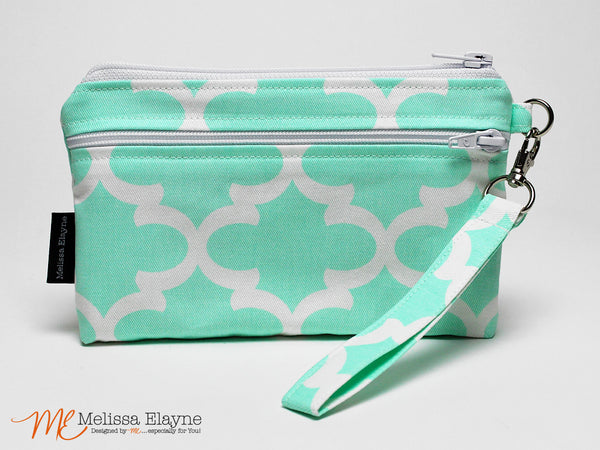 Large Wristlet for iPhone 7 Plus -Mint