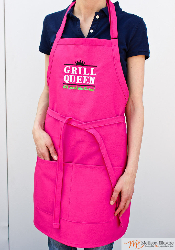 BBQ Apron for Her, Grill Queen