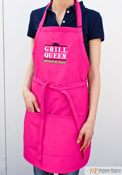 BBQ Apron for Her, Grill Queen - Melissa Elayne