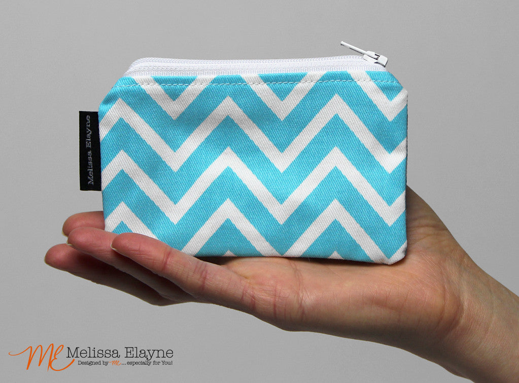 Coin Purse, Zippered Change Pouch - Melissa Elayne