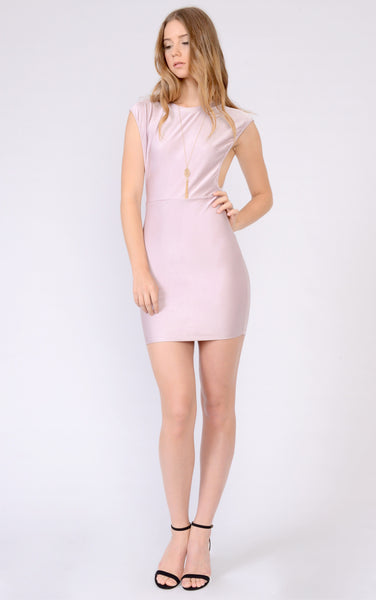 Open Side Sleeves Bodycon Dress