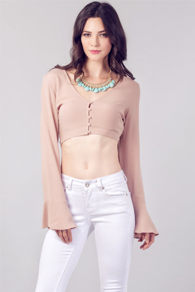 Nude Bell Sleeve Top