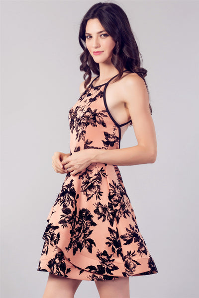 Crisscross Floral Dress