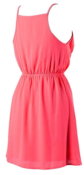 Front Zipper Ruffle Dress
