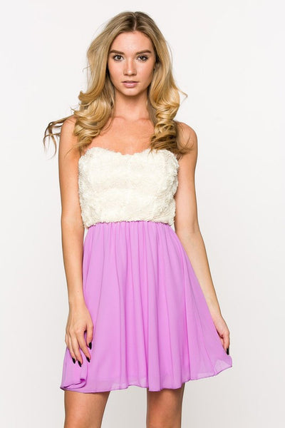 Peach Sweatheart Rose Dress