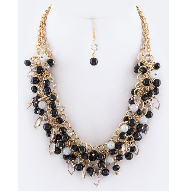 Beads & Pearl Necklace