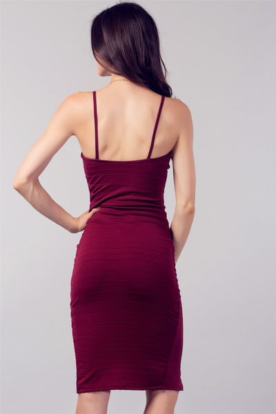 Zip Me in The Front Burgundy Dress