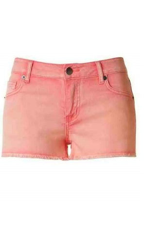 Coral Denim Shorts