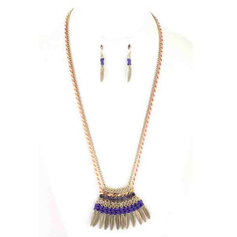 Feather Necklace Set