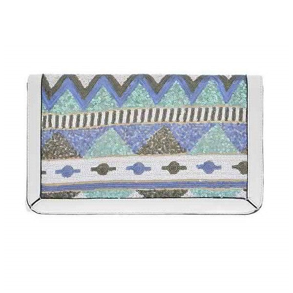 White Tribal Clutch