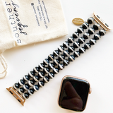 Faceted River Jasper Beaded Apple Watch Bracelet Trio || Apple Watch Band || iWatch band