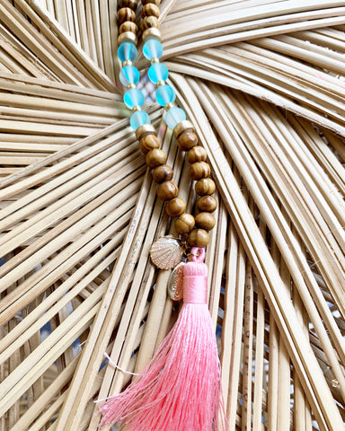 Girls or Tween Boho Mermaid Tassel Necklace
