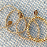 "Gold Filled beaded ""Tilly"" Bracelet 2mm/3mm/4mm/6mm"