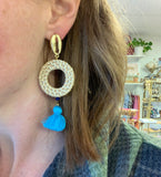 "Puka Shell and Rattan Handmade ""Shore"" Earrings"