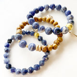 Sodalite Beaded Stacking Bracelets