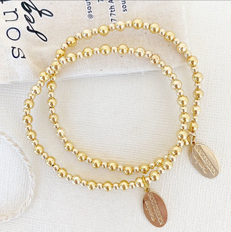 3/4mm Gold Filled Tilly Beaded Bracelet