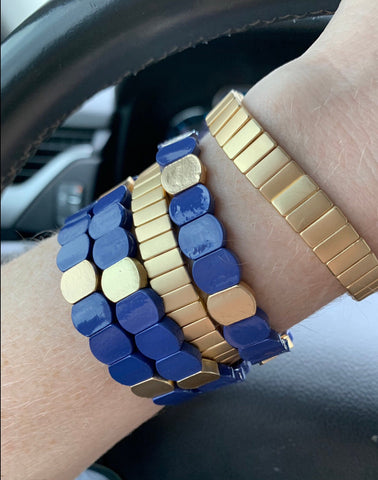 Enamel Color Block Tile Bracelet