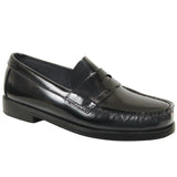 Simon- Boy's Black Leather Penny Loafer