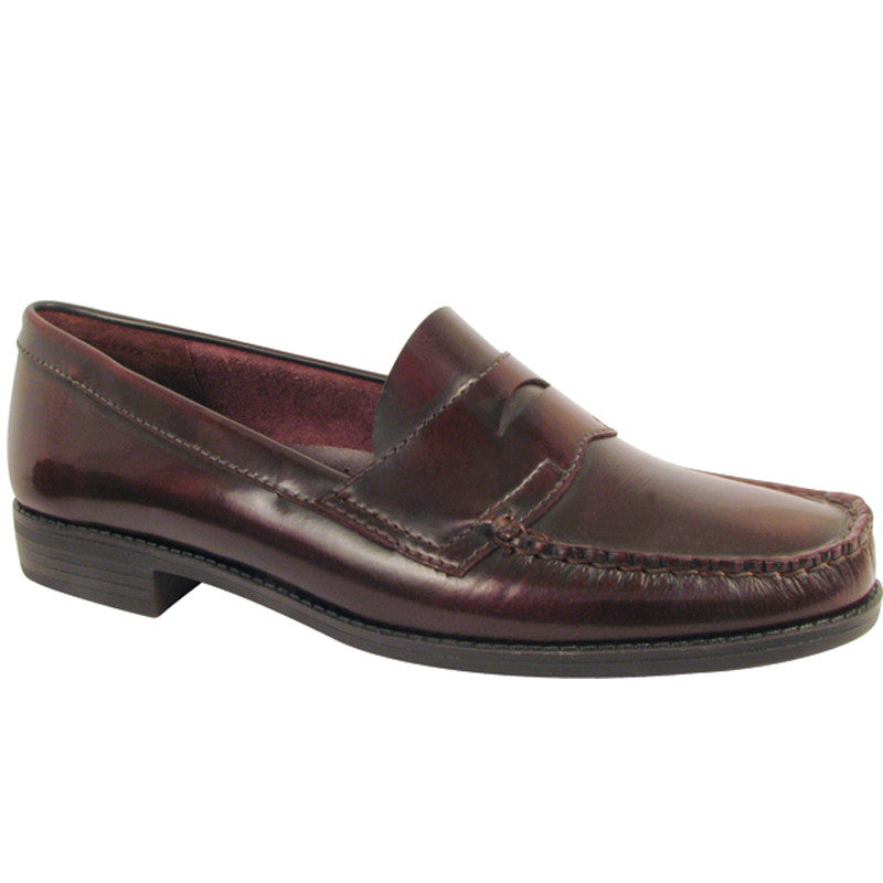 Ivy - Ladies Burgundy Leather Penny Loafer
