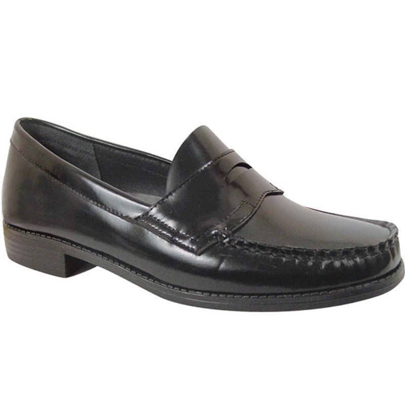 736d7f913e3 Ivy - Ladies Black Leather Penny Loafer – School Shoes Unlimited