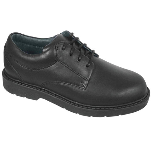 Chad-Black Leather Oxford