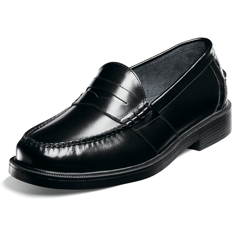 Lincoln - Men's Black Leather Penny Loafer – School Shoes ...