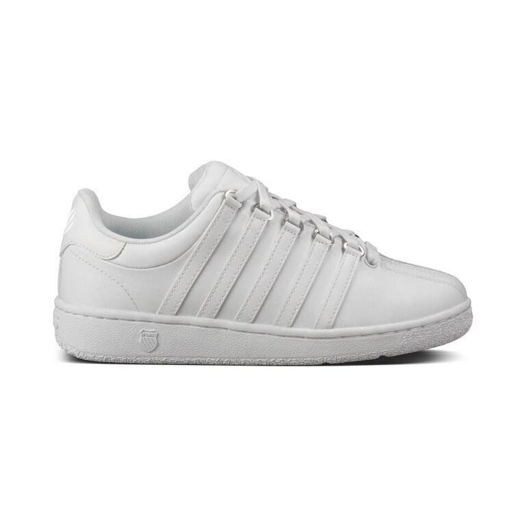 Classic VN (Varsity) Youth White Leather Athletic Tennis Shoe