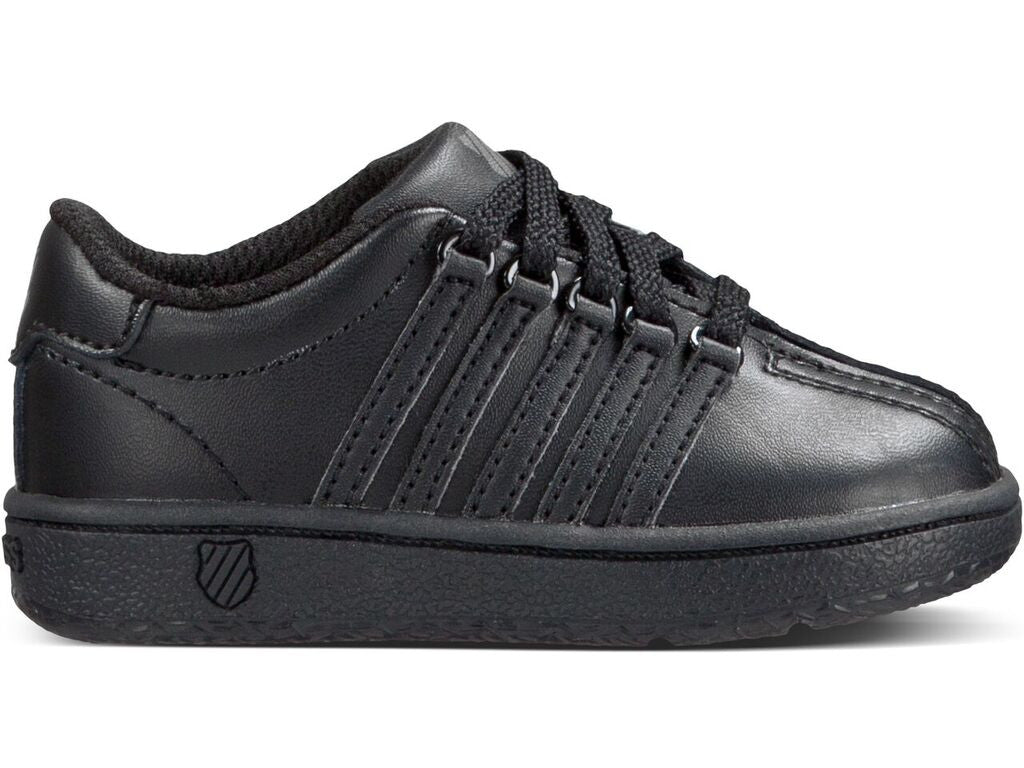 Classic VN Youth Black Leather Athletic Tennis Shoe