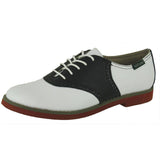 Sadie-Black/White Saddle Oxford