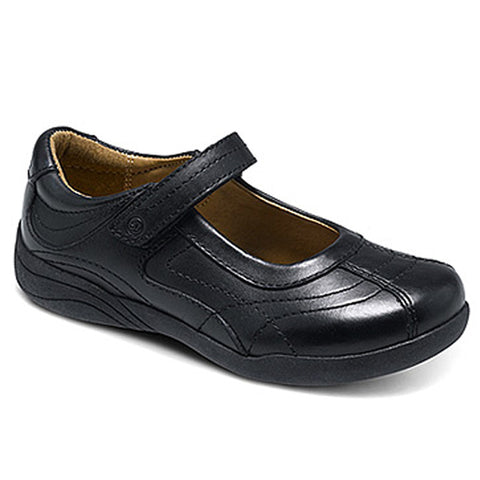 Tutor-Ladies Black Leather Mary Jane Shoe