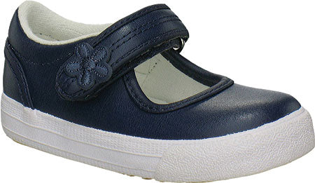 Ella-Navy Blue Leather Infants Mary Jane Shoe