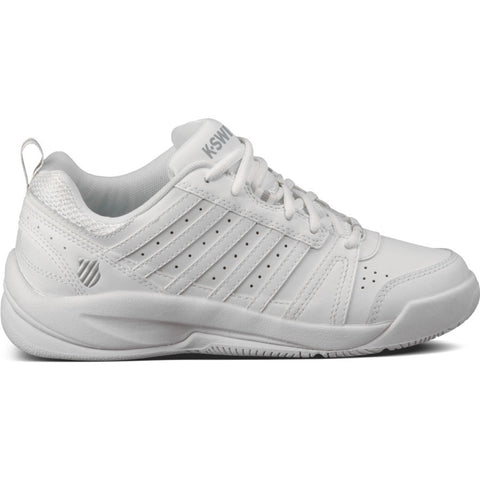 Hoke (Varsity) Youth White Leather Athletic Tennis Shoe