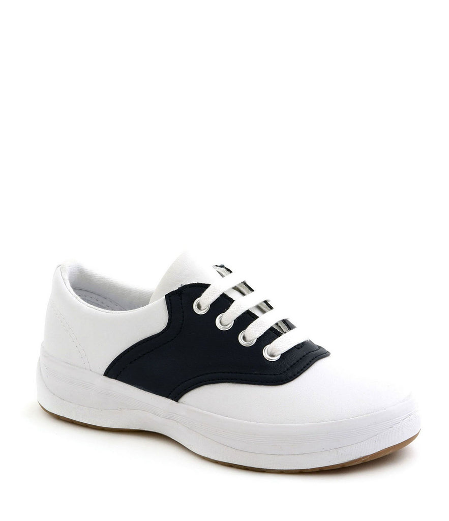 School Days - Children's Navy/White Athletic Saddle