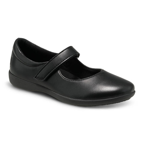 Claire-Black Leather Mary Jane Shoe