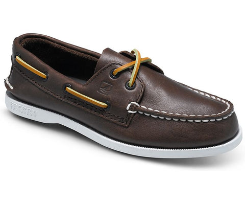Avalon-Moc Toe 2-eye Brown Nubuck Boat Shoe