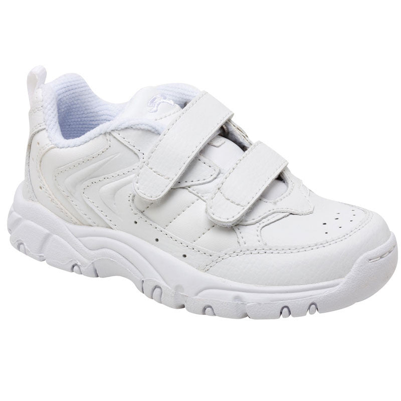 Cooper - White Leather Velcro Athletic Tennis Shoe (On Sale)