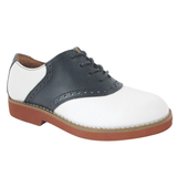 School Issue - Upper Class Navy/White Ladies Saddle Oxford