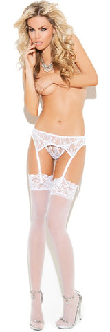 WOMENS LACE GARTER BELT WITH THONG SC1218