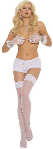 "SLICKCHIX ""SHEER LACE TOP THIGH HI"""