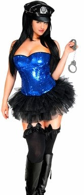 WOMEN'S 4 PC PIN-UP HALLOWEEN COSTUME SCDCB1907